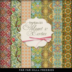 New Freebies Kit of Paper - Vibrant and Exotic