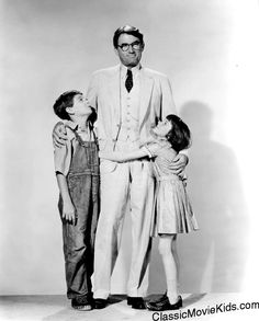 With Gregory Peck in To Kill A Mockingbird (4)