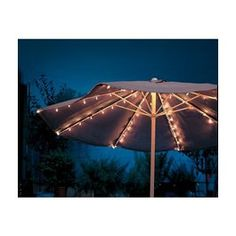 How To Use Umbrella Lights Extraordinary Galtech 11Ftauto Tilt Patio Umbrella With Led Umbrella Lights