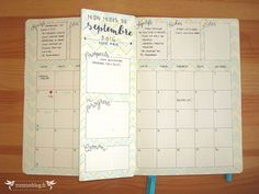 Monthly Log Bullet Journal Septembre #4