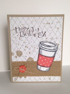 Stampin' With Jamie: Perfect Blend, Sassy Salutations, and Gorgeous Grunge  stamp sets, Something Borrowed and Birthday Bash DSP,  burlap ribbon. All supplies by Stampin' Up!