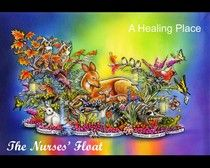 """""""A Healing Place"""", the nurses' float for the 2013 Rose Parade!!  My local AORN chapter helped fund and decorate this float!"""