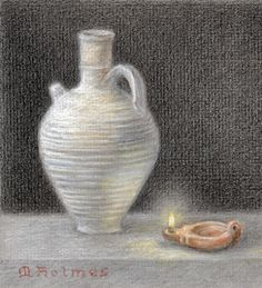 colored chalks on paper
