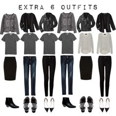 Extra 6 outfits using 8 pieces from the 5 Item French Wardrobe #fashion #capsulewardrobe  #French