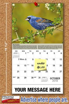 2021 Garden Song Birds Wall Calendars low as Advertise your business, organization or event logo and ad message the entire year! Promotional Calendars, Wall Calendars, Garden Birds, Business Organization, Your Message, Holiday Cards, Messages, Seasons, Logo
