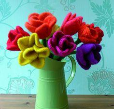 PDF Knit Flower Pattern  Tulip by BloomInFelt on Etsy, $5.00
