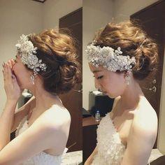 sayoさんはInstagramを利用しています:「* * * 可愛こちゃんな新婦さま♡♡♡ ***** #花嫁#花嫁ヘア#ウェディング#ウェディングヘア#ウェディングドレス#ブライダル#ブライダルヘア#ブライダルヘアメイク#結婚式#ヘアスタイル##ヘアメイク#ヘアセット#ヘアアレンジ#アップスタイル #ボンネ…」