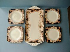 Antique 1910s Sandwich Tray Platter and Side by QueensParkVintage, $65.00