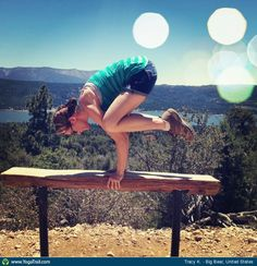 #Yoga Poses Around the World: Crow Pose taken in Big Bear, United States by Tracy K.