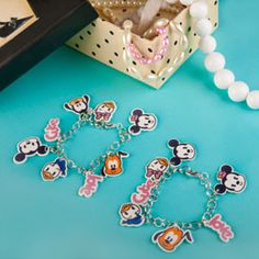 Mickey & Friends Cutie Charm Bracelets