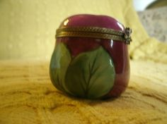 Limoges apple trinket box limited edition by WillowCreekGarden