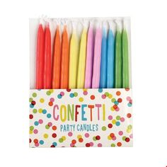 Confetti Candles - Set of 12