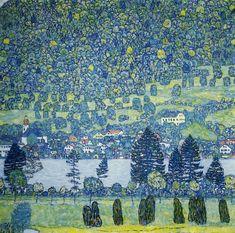 """Forest Slope in Unterach on the Attersee Gustav Klimt"""