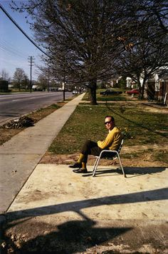 Man On Sidewalk - William Eggleston