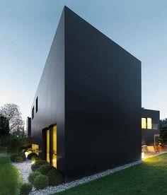 Fachada en Laminam collection nero