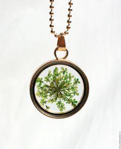 """Купить Кулон """"Зеленое поле"""" - комбинированный, кулон, кулон на цепочке, кулоны…"""