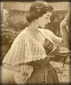 Crochet CAPELET Cropped Cape Crochet Pattern  by touchofnostalgia7