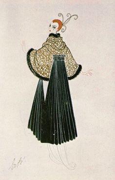 Fashion plate by Erté, 1915