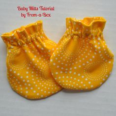 www.From-a-Box.com Baby Mitts Tutorial