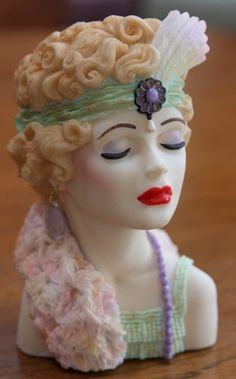 "Cameo Girls Judith ""Eve Flapper Fatale"" 1926 Lady Head Vase"
