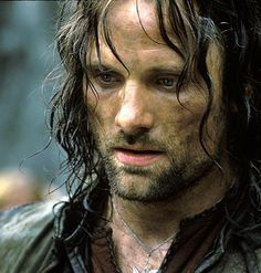 """Viggo Mortensen as Aragorn in the """"Lord of the Rings"""" film trilogy Aragorn Lotr, Legolas, O Hobbit, Hobbit Hole, The Two Towers, You're Hot, Striders, Portraits, Daryl Dixon"""