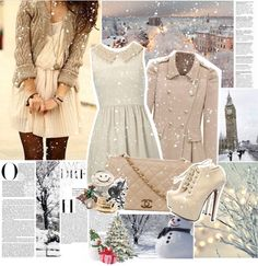 """Chasing snowflakes."" by ashleypetrova ❤ liked on Polyvore"