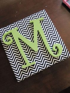 Personalized Initial Canvas by YouMeandThree on Etsy
