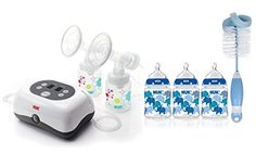 NUK Expressive Double Electric Breast Pump with 3 Count Slow Flow Bottles >>> For more information, visit image link.-It is an affiliate link to Amazon.