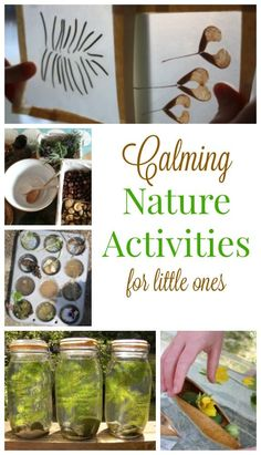 These indoor nature activities are perfect for preschoolers. Fabulous quiet time activities to help kids calm down.