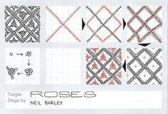 Roses - tangle pattern