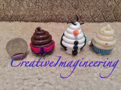 FROZEN Disneyinspired Cupcake Charms by CreativeImagineering, $11.50