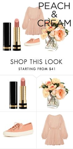 """""""Untitled #248"""" by jeremy-brzozowski ❤ liked on Polyvore featuring beauty, Gucci, Superga, LoveShackFancy and peachlipstick"""