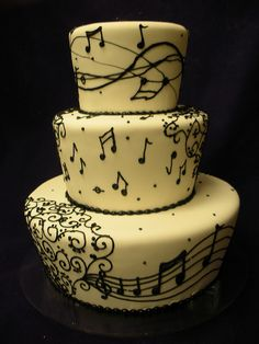 MUSICAL NOTES CAKE by Angel Contreras, via Flickr.   :) omg not want but NEED