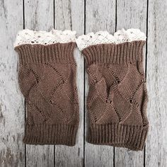 Restocked knitted lace trimmed boot toppers#boho #bohochic #bootcuffs #bootttoppers #bohemian #bohostyle