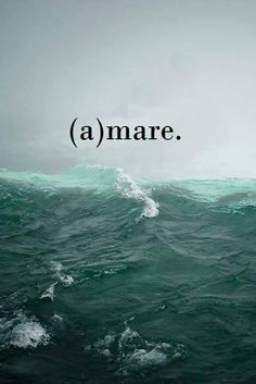 Sea / mare / a-mare Italian Words, Italian Quotes, Sea Quotes, Summer Quotes, Beautiful Words, Beach, Life, Inspiration, Wallpapers