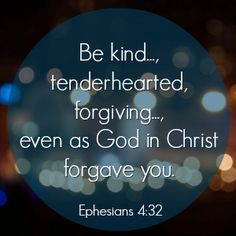 "And be kind to one another, tenderhearted, forgiving one another, even as God in Christ forgave you. — Ephesians 4:32 (NKJV)  Pastor Pete Wilson of Cross Point Community Church writes, ""When someone hurts us, Jesus stands with us. He stands in us. His word to us is that He hopes we'll forgive this person, this offense in the same way He forgave us.""  Read more from his devotional & enter for your chance to win his book ""Let Hope in"" today! http://faithgateway.com/breathe-grace"