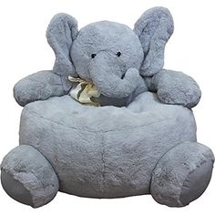 These lovable elephant chairs offer little ones cuddly companionship all day long. This cuddly soft chair doubles as a big stuffed animal. Perfect for story time, little ones can sink right in for a Bear-sized snuggle. Elephant Nursery, Baby Elephant, Elephant Party, Big Stuffed Animal, Soft Chair, Cool Chairs, Kids House, Kids Furniture, Baby Names