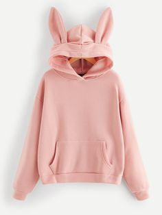 Shop Pocket Front Hooded Sweatshirt With Ears online. SHEIN offers Pocket Front Hooded Sweatshirt With Ears & more to fit your fashionable needs. Teen Fashion Outfits, Stylish Outfits, Girl Fashion, Jugend Mode Outfits, Sweaters And Jeans, Kawaii Clothes, Look Cool, Mens Sweatshirts, Aesthetic Clothes