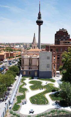 #landarch #urbandesign La Paz Nursing Home Garden by Estudio Caballero Colón - Dezeen