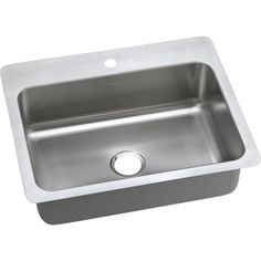 Elkay Gourmet 22-in x 27-in Elite Satin Single-Basin Stainless Steel Drop-In or Undermount 1-Hole Residential Kitchen Sink $120