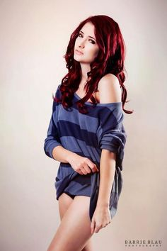 Love the red hair...