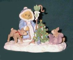 "Cherished Teddies Olga ""Feel The Peace Hold The Joy Share The Love"" #614/595"