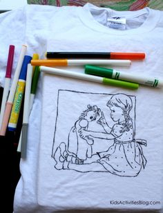 Coloring Page T-Shirt Tutorial! So easy!