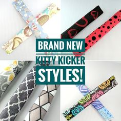 Cats are going crazy for these 100% catnip (or stuffing) kitty kickers! Many patterns & colors to choose from!