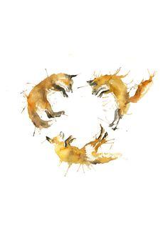 Fox Circle Art Print