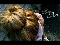 sock bun, if you do it with wet hair you get curls when you let it down after your hair dries #diy