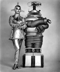 Lost In Space Robot and The silver lady from Space Beauty episode