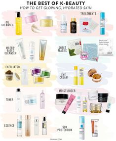 for Glowing Skin: Make Your Face Glow With the Best of K-Beauty The best of k-beauty: how to get glowing, hydrated, flawless skin. How to create your own Korean Beauty Routine at Soko Glam.The best of k-beauty: how to get glowing, hydrated, flawles Korean Beauty Routine, Korean Beauty Tips, Nighttime Skincare Routine, Beauty Hacks For Teens, Beauty Ideas, Beauty Advice, Tips Belleza, Skin Treatments, Skin Care Products