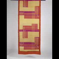 "Dorothy Liebes | Tapestry Technique | cotton + silk + rayon | 104"" x 32"" 