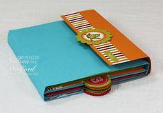 Mini scrapbook album folded up.